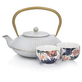 Чайник от чугун с две чаши DUKA MARIKO IDUNN 1000 мл.