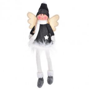Декорация кукла момиче DUKA JUL GNOME 32 см., сив