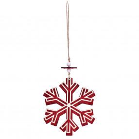 Висулка снежинка DUKA JUL SCOT 11 см. ,червен.