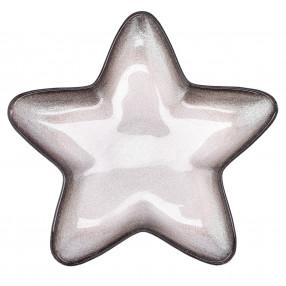 Чиния звезда DUKA STRIMMA 23 см., сив