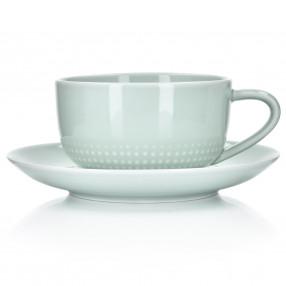 Чаша с чиния DUKA INGRID 300 мл. зелен.