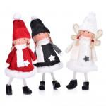 Декорация кукла момиче DUKA JUL GNOME 14 см.,  червен