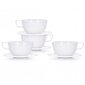 Чаши за чай с чиния 4 бр. DUKA VILDE