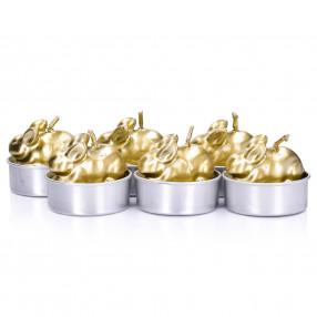 Свещи заек 6 бр. DUKA GODIS, злато