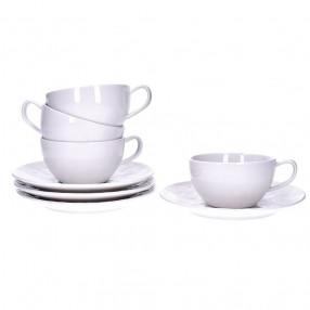 Чаши с чинии 4 бр. DUKA SARA 200 мл.