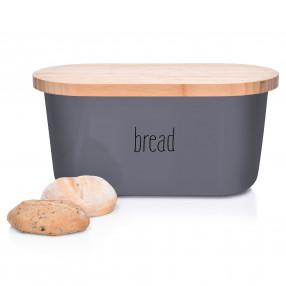 Кутия за хляб с дъска за рязане DUKA KITCHEN, сив