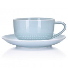 Чаша с чиния DUKA INGRID 300 мл. ,светлосин