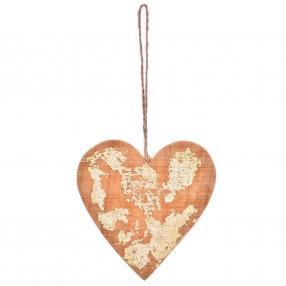 Висулка сърце DUKA BLIXTA 10 см., жълт