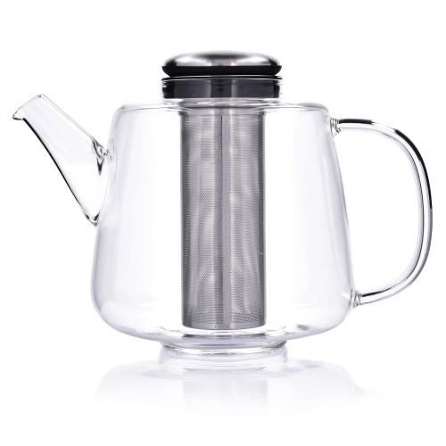 Чайник със запарка за чай и съд за подгряване DUKA RITUAL