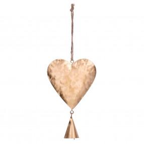 Висулка сърце DUKA BLIXTA 14 см. жълт