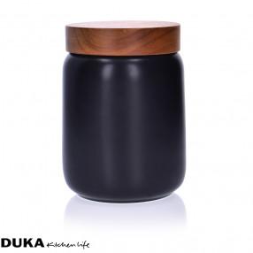 Буркан за съхранение DUKA CANDY 1000 мл., черен