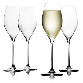 Чаши за просеко 4 бр. DUKA SWAN 300 мл.
