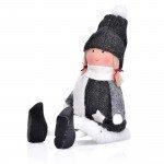 Декорация кукла момиче DUKA JUL GNOME 14 см., сив