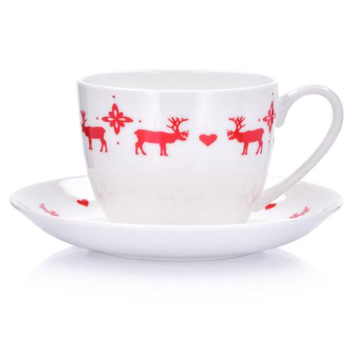 Чаша с чиния DUKA RADJUR 380 мл.,  бял