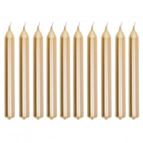 Свещи 10 бр. DUKA HOME&STYLE 17 см., златисти