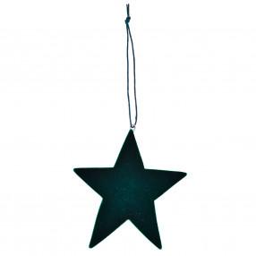 Висулка звезда DUKA JUL SCOT 8 см. ,зелен