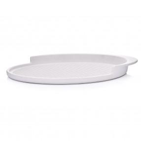Тава за печене на пица DUKA HJALMAR 36x32 см., бял