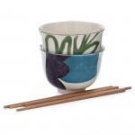 Сет за азиатска супа 4 ел. DUKA RAMEN, зелен