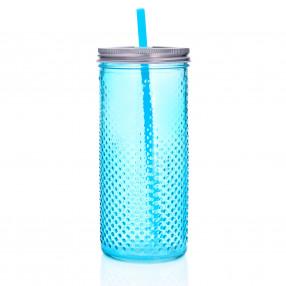 Чаша със сламка DUKA TWIST 700 мл., син