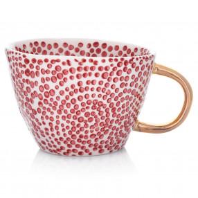 Чаша DUKA SIREN 300 мл., малки точки, червен